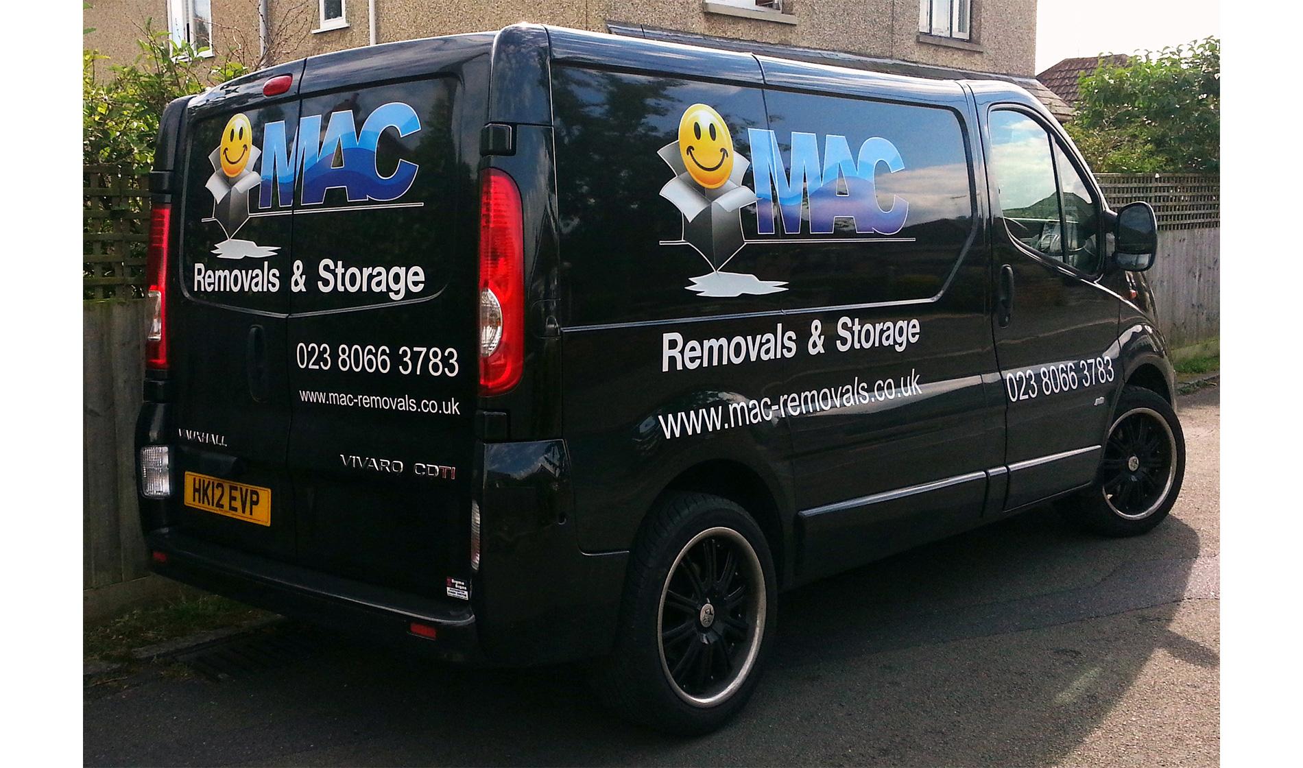 MAC Removals van wrap
