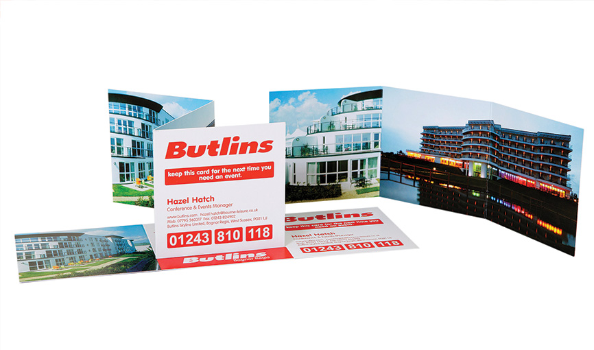 Butlins A7 Tri-fold cards