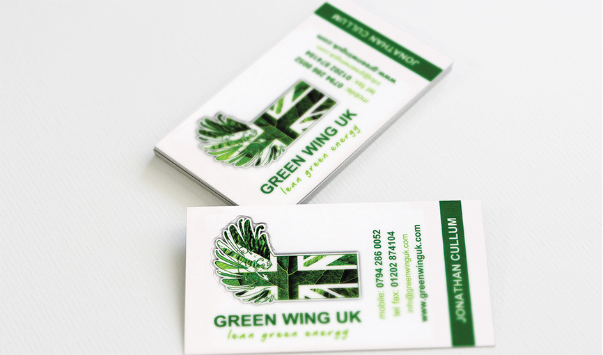Greenwing logo and stationery