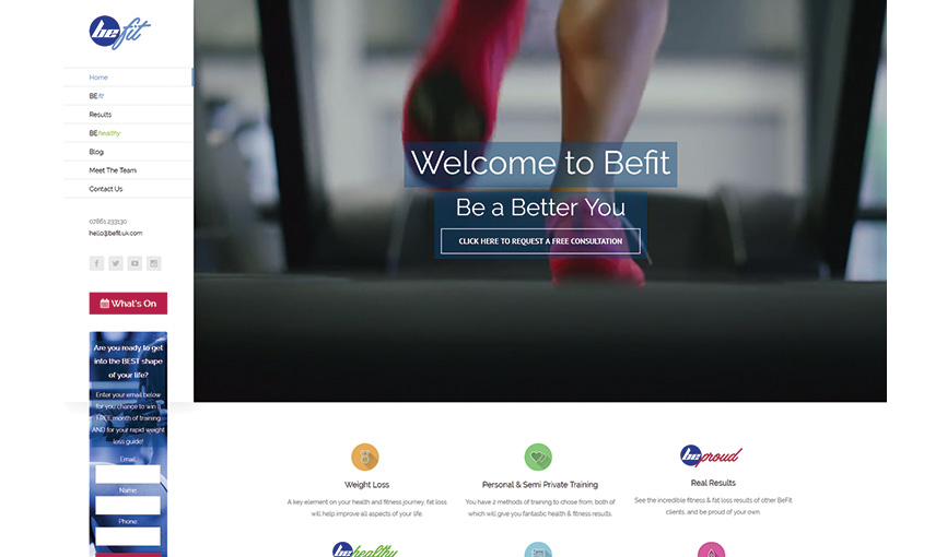 BeFit website