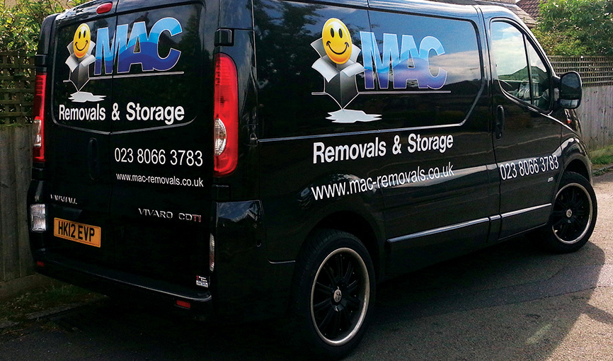 MAC Removals van wrap
