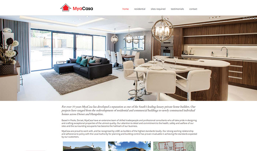 MyaCasa Developments website
