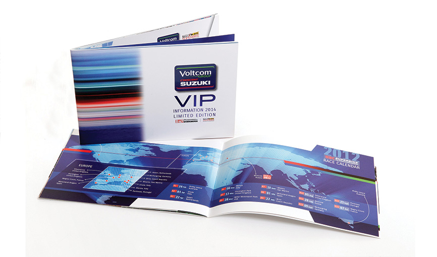 Suzuki World Superbikes VIP A5 landscape brochure